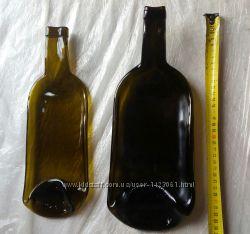 Тарелка из 1. 5 литровой винной бутылки бутылка плавленная фьюзинг бутылка