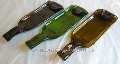 Тарелка из винной бутылки  плавленная бутылка  фьюзинг