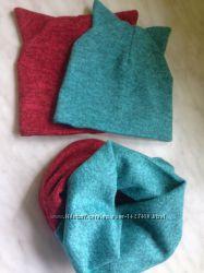 Комплект шапка и шарф на девочку