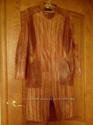 Пальто кожаное р. 50