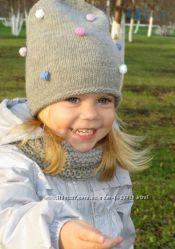 Встречаем зиму красиво детские шапочки