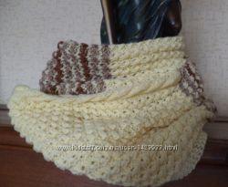 комплект шарф cнуд и митенки