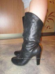Ботинки нат кожа осень, почти новые24 смНатуралки