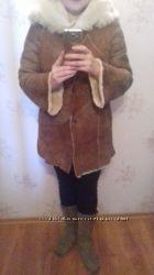 Натуральная женская дубленочка с капюшоном fratelli, размер 42-44 Дешево