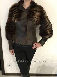 Куртка зимняя мех лисы, Италия, размер 44-46