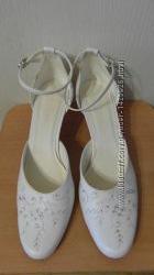 Туфли белые свадебные размер 40