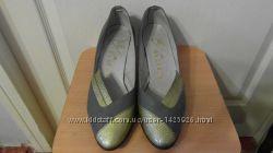 Туфли кожаные серые размер 40