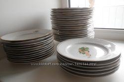Тарелки и блюдца фарфоровые разные недорого