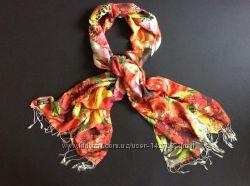 Женский шелковый платок шарф  Индия 200-70