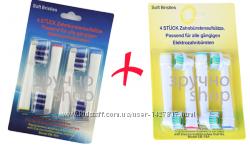 Насадки для зубных щеток 8 шт коп Trizone & коп 3D-White