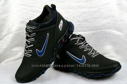 Кроссовки зимние Nike кожаные