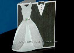 Свадебная открытка ручной работы в наличии