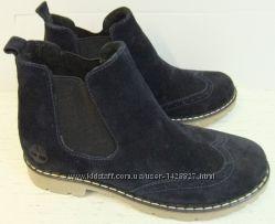 осенние крутые ботиночки Timberland Оксфорд натуральный замш кожа нубук Т24