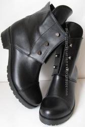 Стильные Hermes болты ботинки женские демисезонные сапоги Гермес кожаные