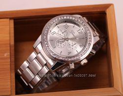 Женские наручные часы Geneva - серебро и золото