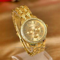 Женские часы с стразами - 3 цвета