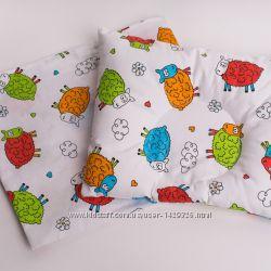Подушка для деток 30х25 см, ортопедическая с наволочкой