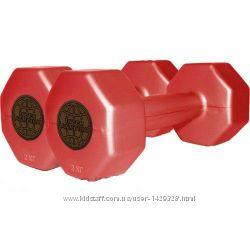 Гантели пластиковые цветные Inter Atletika ST 560. 2-2 2 кг