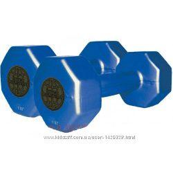 Гантели пластиковые цветные Inter Atletika ST 560. 1-1 1 кг