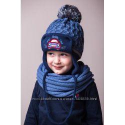 Зимняя шапка для мальчика 44-48. В наличии.