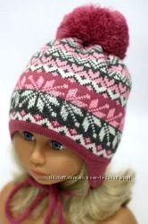 Зимняя шапка для девочки 48-52
