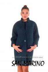 Укороченное демисезонное пальто прямого кроя