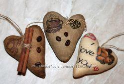 Кофейные сердечки ко дню Святого Валентина