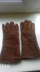 Продам жіночі замшеві зимові перчатки