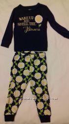 Пижама  Gymboree  размер 18-24 подсолнухи  хлопок трикотаж
