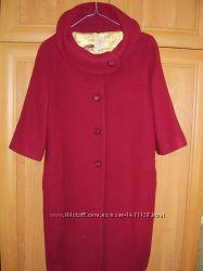 Эксклюзивное кашемировое пальто размер М46 цвет бордо