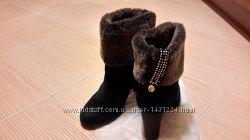 Зимние замшевые женские ботинки р 38