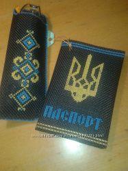 Обложка на паспорт с вышивкой