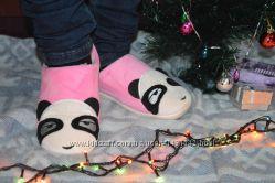 Домашние женские шлепанцы панды