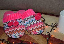 Мягкие текстильные домашние тапочки