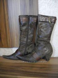 Кожаные зимние сапоги на натуральном меху elisse