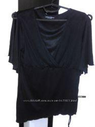 Стильная, черная, асиметричная блуза dorothy perkins