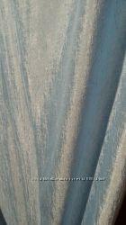 Штора-жатка нежно-голубого и белого цвета