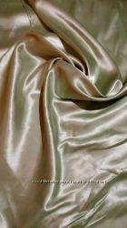Новые красивые шторы Атлас салатовый
