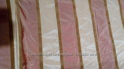 Новые роскошные шторы Тафта полоска персик
