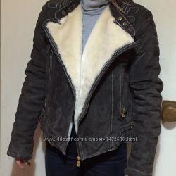 Куртка нат. замш с утеплителем