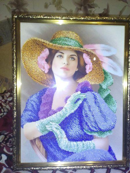 Красивая картина вышита бисером , , так же делаем вышивки на заказ
