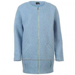 Golddigga Шерстяное Пальто Женское Голубое