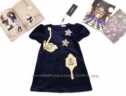 Dolce&gabbana бархатное платье для девочки