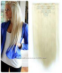 Волосы трессы ТЕРМО на заколках 7 прядей 60см 613