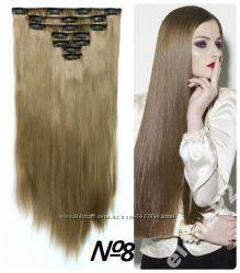 Волосы ТЕРМО на заколках 11 прядей 55см 8