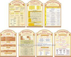 Комплект стендов по украинскому языку Бежевый