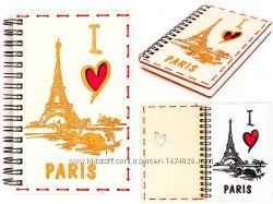 Деревянный блокнот - I Love PARIS - белый
