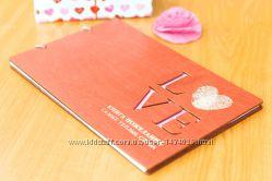 Деревянная Книга пожеланий Love Отпечатки