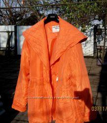 Куртка женск. из натуральн шёлка Китай, р. М на 48-52, морковный цвет, новая