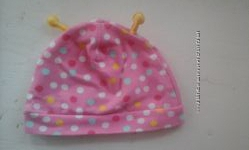 Чудесная розовая шапочка в горох от H&M